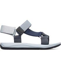 camper match, sandali uomo, grigio/blu, misura 46 (eu), k100539-004