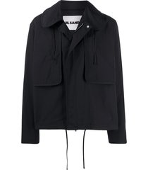 jil sander peter pan collar field jacket - black