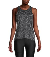 90 degrees by reflex women's space-dyed tank top - white - size m