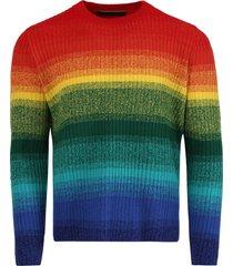 morph multicolor stripe cashmere pullover sweater