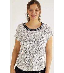 t-shirt shoulder dogs retilinea - branco - feminino - dafiti