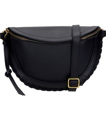 isabel marant skano waist bag in black leather