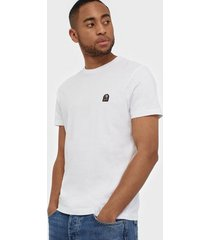 parajumpers pjs m patch tee t-shirt t-shirts & linnen white