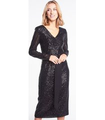 czarna sukienka cekinowa