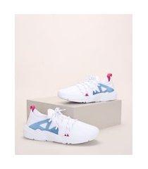 tênis de neoprene feminino oneself chunky sneaker com cadarço branco