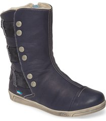 cloud amber wool lined bootie, size 8-8.5us in blue leather at nordstrom