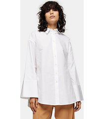 *white extreme cuff shirt by topshop boutique - white