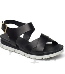 biadebra suede sandal shoes summer shoes flat sandals svart bianco