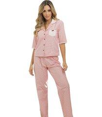 pijama pantalón largo vinotinto adriana arango 7825