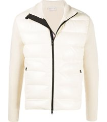 moncler high-neck padded cardigan - neutrals