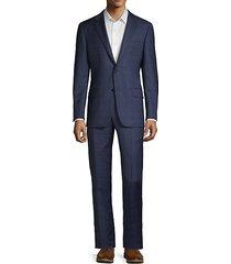 milburn iim series regular-fit plaid wool suit