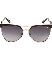 65mm browline aviator sunglasses
