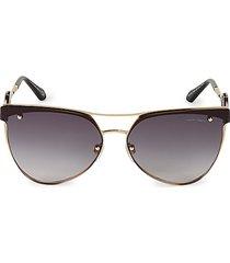 65mm browline aviator sunglasses