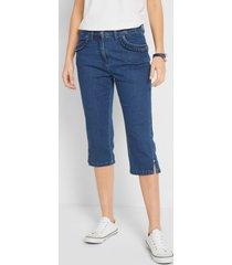 capri stretch jeans met ruches bij de zakken