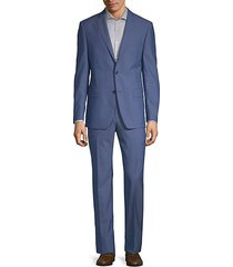 slim-fit classic wool suit