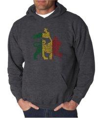 la pop art men's word art hoodie, one love