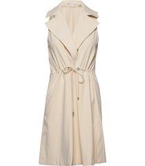 kaydeiw waistcoat trench coat rock beige inwear