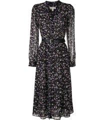 michael michael kors floral print dress - black