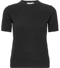 josefa ss cashmere knit t-shirts & tops short-sleeved svart andiata