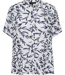 overhemd met korte mouwen bladprint