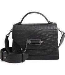 mackage keeley croc embossed leather crossbody bag -