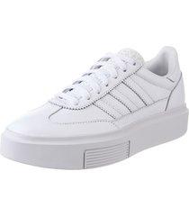 zapatilla blanca adidas sleek super