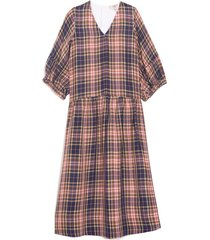 rooney relaxed midi dress in plaid