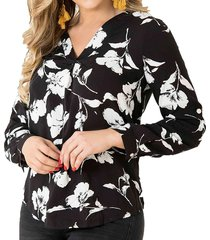 blusa lia negro para mujer croydon