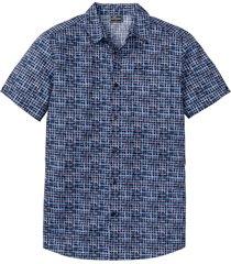 camicia a maniche corte slim fit (blu) - rainbow