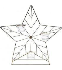 świecznik metalowy gwiazda