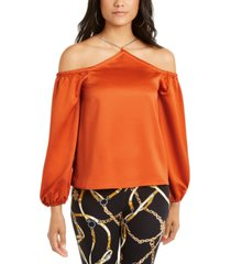 thalia sodi cold-shoulder chain-neck top, created for macy's