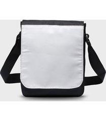 torba na ramię mała (bez nadruku, gładka) - czarna