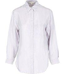 maje women's striped long-sleeve shirt - stripe - size 3 (l)
