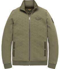 pme legend psw201402 6149 zip jacket structure sweat deep lichen green groen