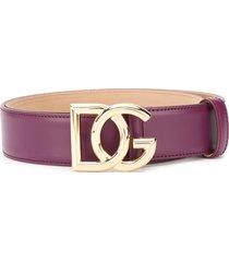 dolce & gabbana dg buckle belt - purple