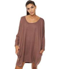 vestido marrón al aniz bettina