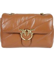 pinko classic love puff maxi quilt shoulder bag