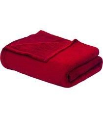 cobertor casal 1,80 x 2,20 vermelho - multicolorido - dafiti