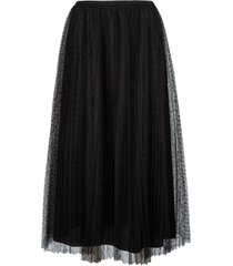 red valentino lace pleated skirt