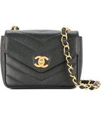 chanel pre-owned 1994-1996 v-stitch cc single chain shoulder bag -