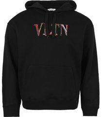 hand drawn logo hoodie, black