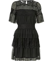 klänning vmwauw s/s mesh short dress