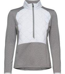 lds troon hybrid 1/2 zip sweat-shirt tröja grå abacus