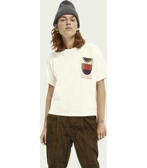 scotch & soda boxy fit artwork t-shirt