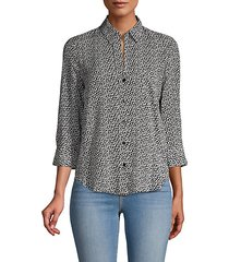 ryan heart print blouse