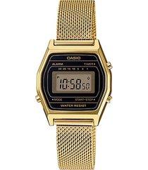 reloj casio dama elegante la690wemy-1df color dorado