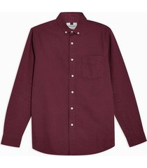 mens red burgundy twill slim shirt