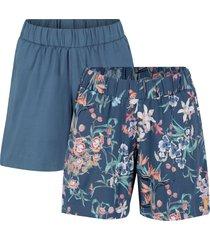 shorts in jersey di cotone (pacco da 2) con cinta comoda (blu) - bpc bonprix collection