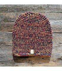 czapka #czerwony #granat #żółty #melanż