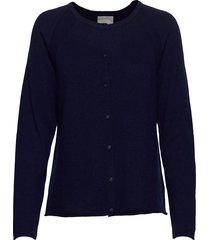 cualaia cardigan stickad tröja cardigan blå culture